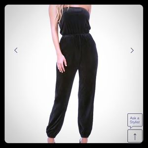 Forever 21 Pants - Forever 21 Strapless Plush Jumpsuit